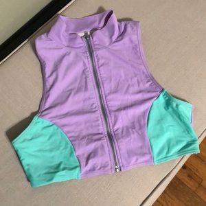 Women's zip up swimsuit top